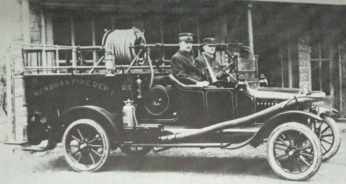 1919 Ford Pumper. Erice Zeliff Driver, Frank Groendyke, Chief