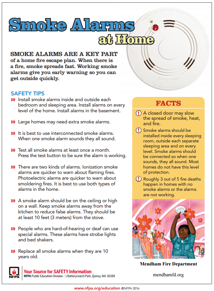 Download our Smoke Alarms at Home Fact Sheet